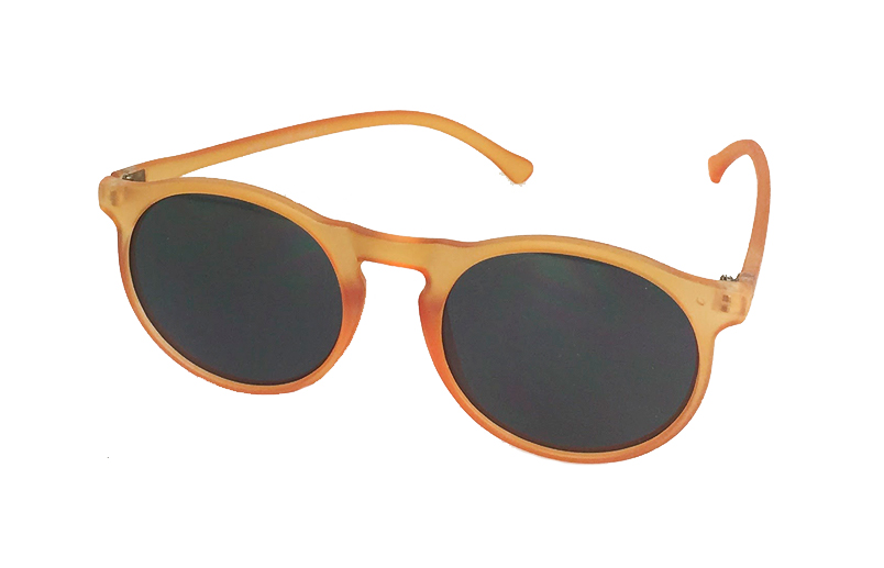 Rund orange solbrille