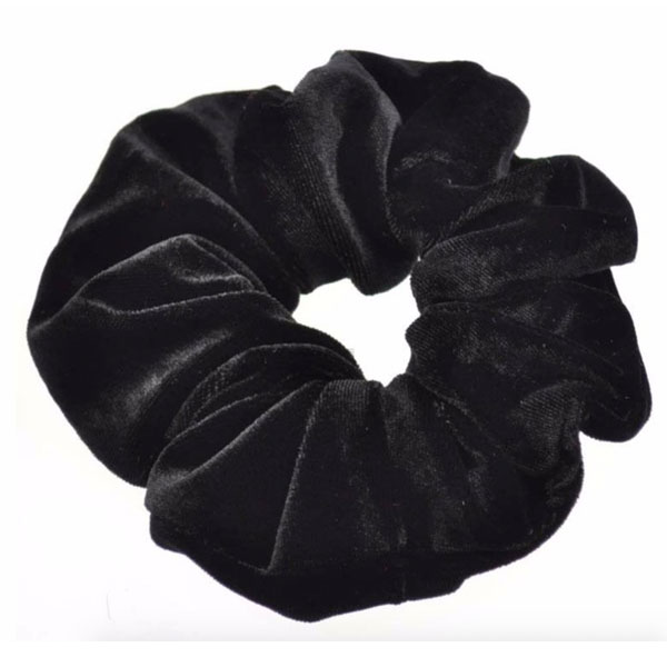 Velour scrunchie / hår elastik i sort