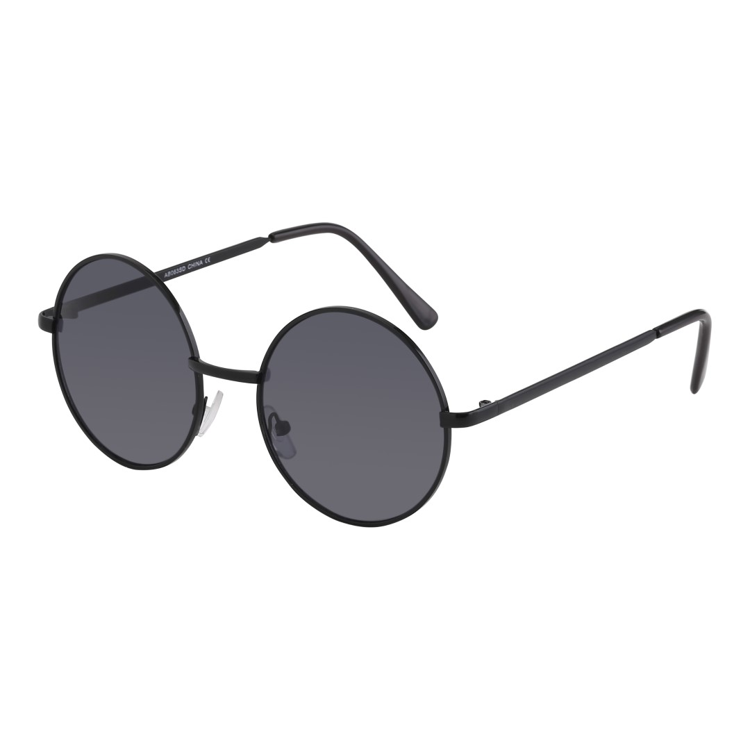 Sort rund solbrille. John Lennon model