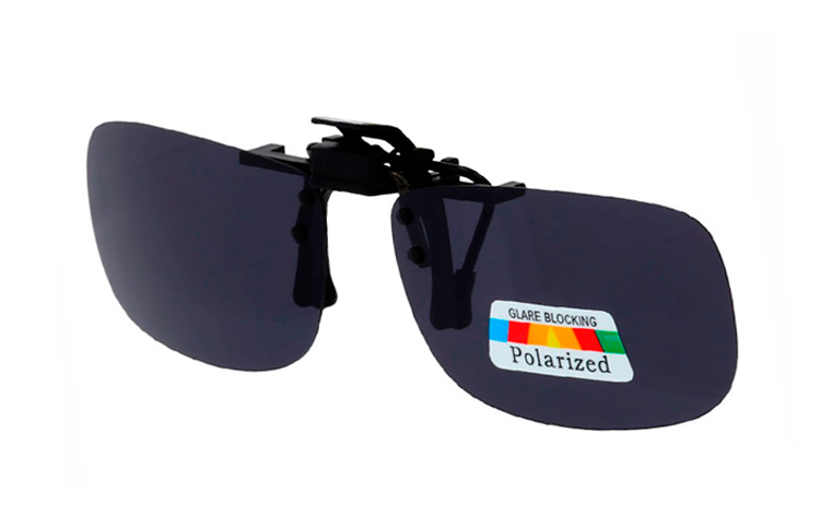Sort polaroid clip-on solbrille