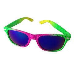 8836c5261bce Farverig neon solbrille i spraymalings look - Design nr. 3200
