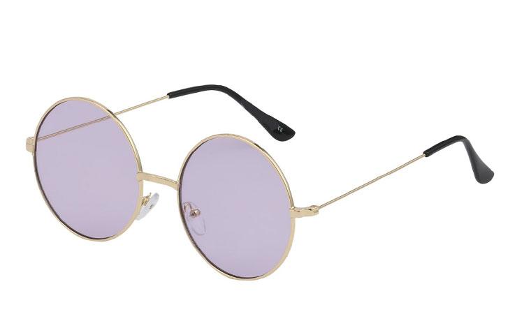 f9fd3d7780ba Rund solbrille i metalstel med lyslilla glas - Design nr. 3441