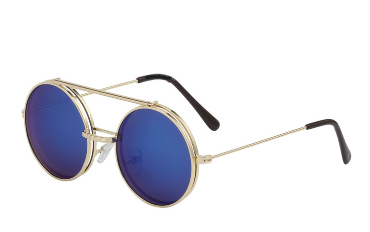 Rund brille med flip-up solbrille - Design nr. 3453