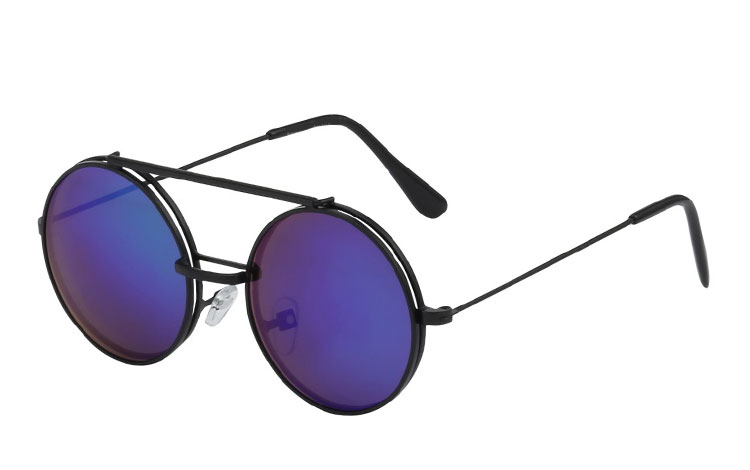 Metal brille med flip-up solbrille - Design nr. 3460
