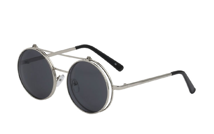 Stor metal brille med flip-up solbrille - Design nr. 3465
