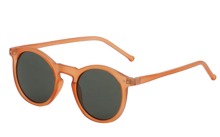 Mat rund orange/transparent solbrille
