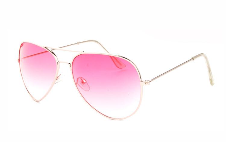5f39b969d6ff Lyserøde aviator solbriller - Design nr. 3472