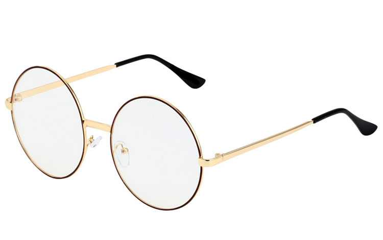 STOR rund metal brille  - Design nr. 3522