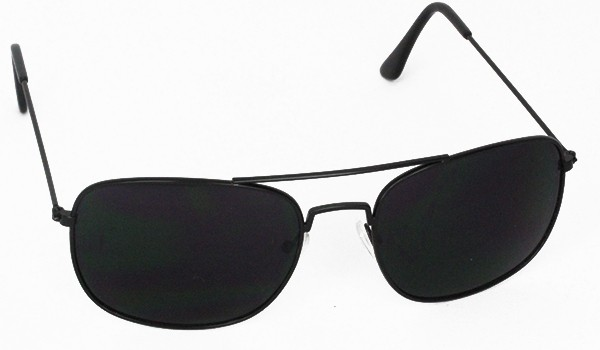 Sort aviator i firkantet metal design - Design nr. 3090