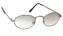 Oval solbrille med smokey glas