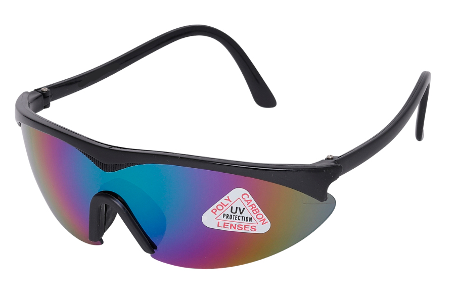 Sort cykel / sports brille i retro design - Design nr. s3945