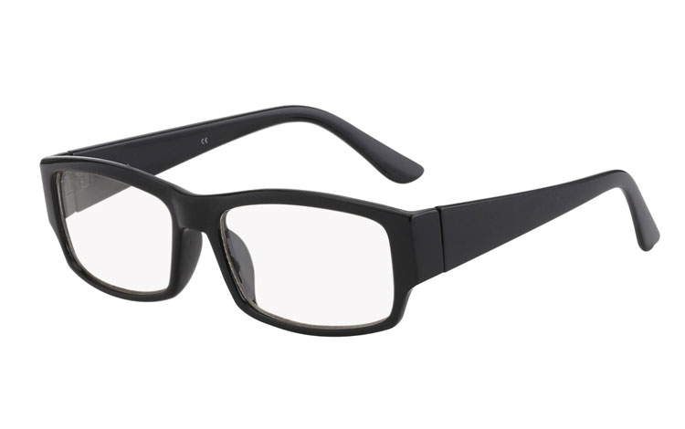 ca0d5054b34e Firkantet brille med klart glas uden styrke. - Design nr. 403