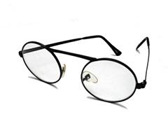 2073384fb84e Brille uden styrke i rund sort metal stel - Design nr. 603