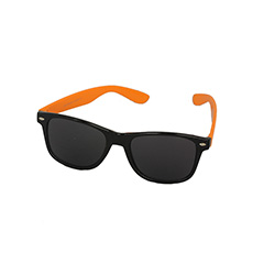 Sort wayfarer med orange stænger - Design nr. 970