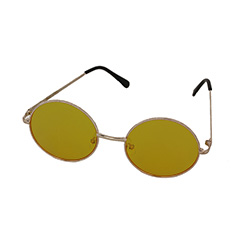 eedf0351fd61 Gul solbrille i rundt design. - Design nr. 999